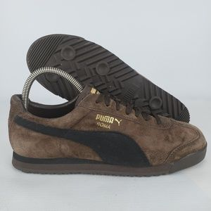 Puma Roma Women's Sneaker Brown Suede Shoes Size 8